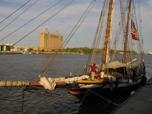 Sailing adventure about to start at Savannah's water front