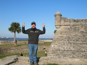 Jason enjoys Castillo San Marcos - a fort located in St. Augustine's Historic District. Construction was completed in 1695. It has never been defeated in battle.