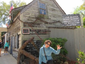 What does 2 plus 2 equal?  Learn all about it at St. Augustine's oldest school house.