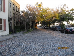 Cobblestone streets add to the city's character.