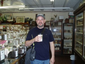 "St. Augustine's oldest drug store had some interesting remedies.  Nothing a ""coffee"" can't fix - right Jason?"