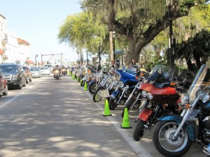 Bikes galore cause it's Bike Week in Daytona!