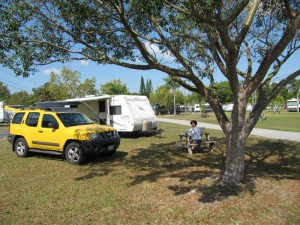 Our camp site just outside Miami (miami everglades campground)