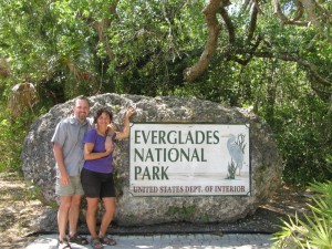 Here we are arriving at Everglades. We stayed at Flamingo Campground which is at the southernmost part of the park and is on the shores of Flamingo Bay. Flamingo Bay is at bottom of Florida and opens south to the Florida Keys.