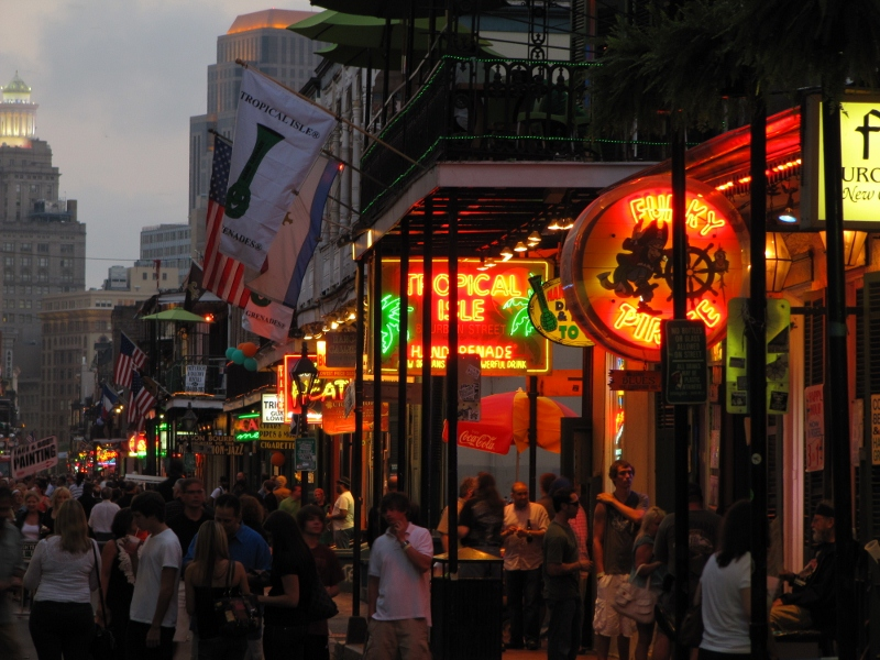 Bourbon Street is the place to be for a party - any day of the week....there are tons of options for food and drink....