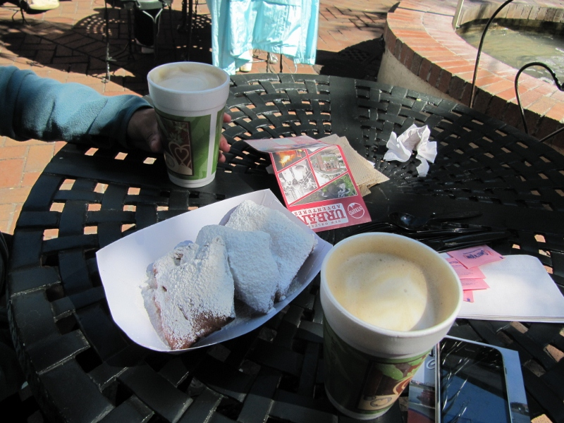 New Orleans has great food too! We really enjoyed some local specialties like beignets and cafe au lait.