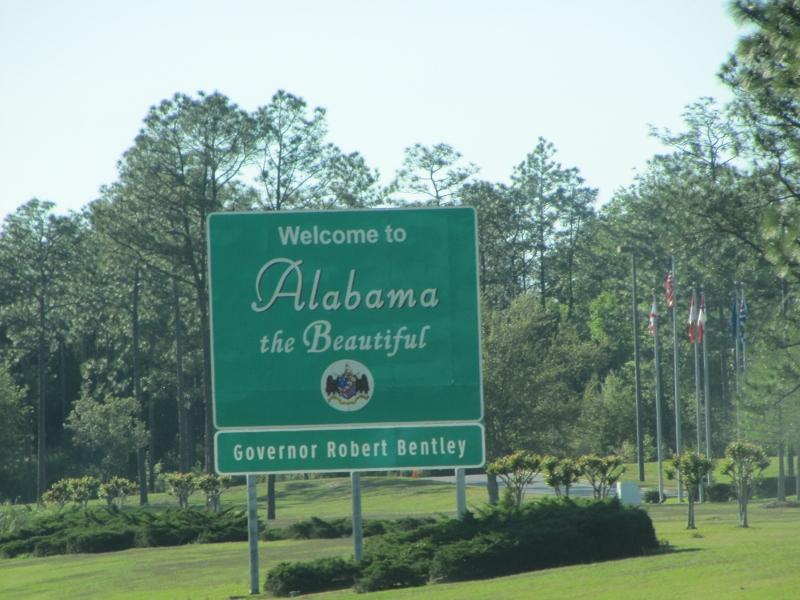 Drove straight through Alabama.