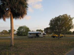 Our campsite at Flamingo Campground