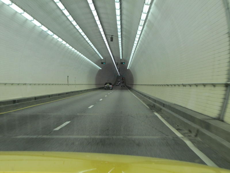 This tunnel took us right under Mobile!
