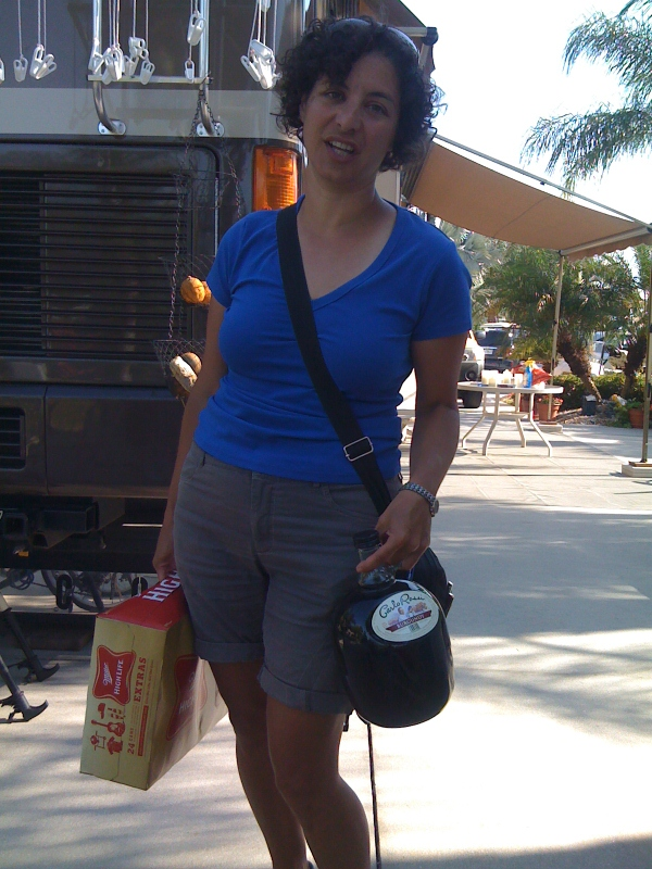 Marianna arrives with much needed supplies.