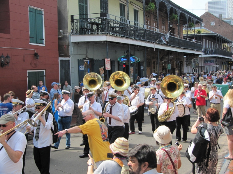 Sure, we missed Mardi Gras but we found out French Quarter Festival started the next day. There was even a parade!