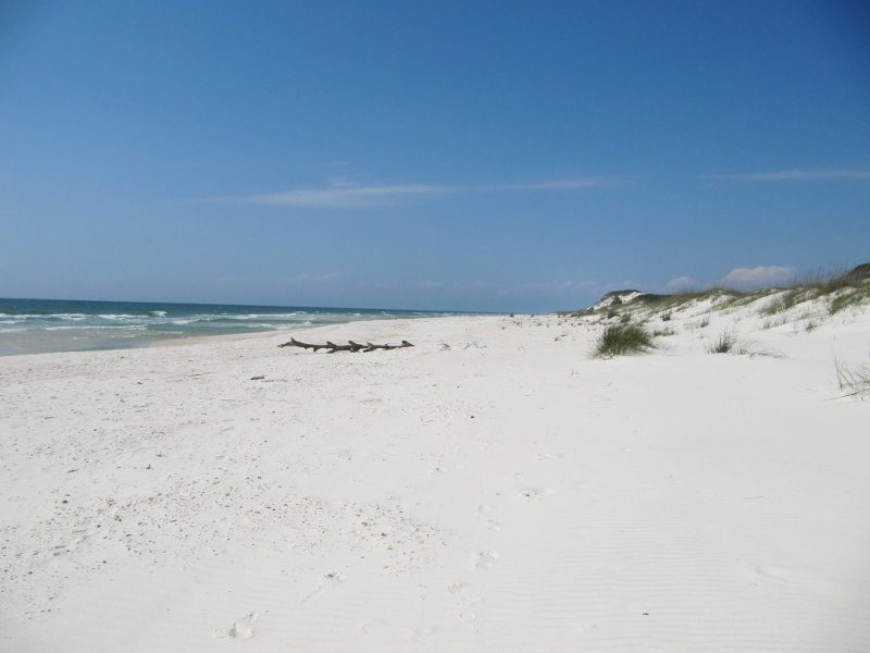The west side of the pennisula has endless natural beaches and not a soul in sight.