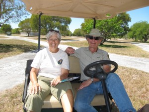 We met plenty of nice people too...like Charlie and Lynda Dunham who volunteer at the park.