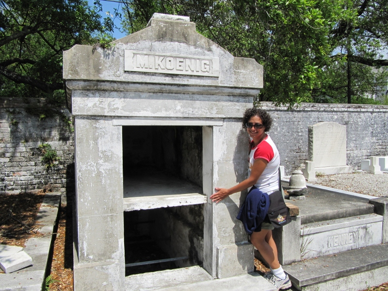 Mausoleums can only be opened a year and a day after they were last opened. New additions are placed on the top shelf while the former top shelf occupants are cremated and moved to the bottom.
