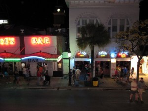 Hemmingway's hang out Sloppy Joe's Bar draws quite a crowd.