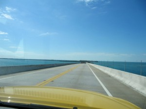 Heading down the keys on the Overseas highway.  What a great view of the open water!