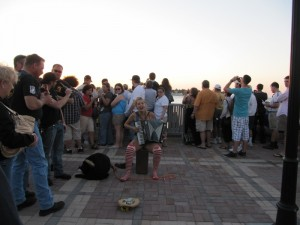 Street Performers entertain the crowds in Key West